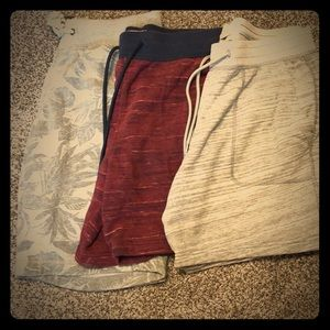 Men's Cotton Shorts - Small- 3 Pairs!